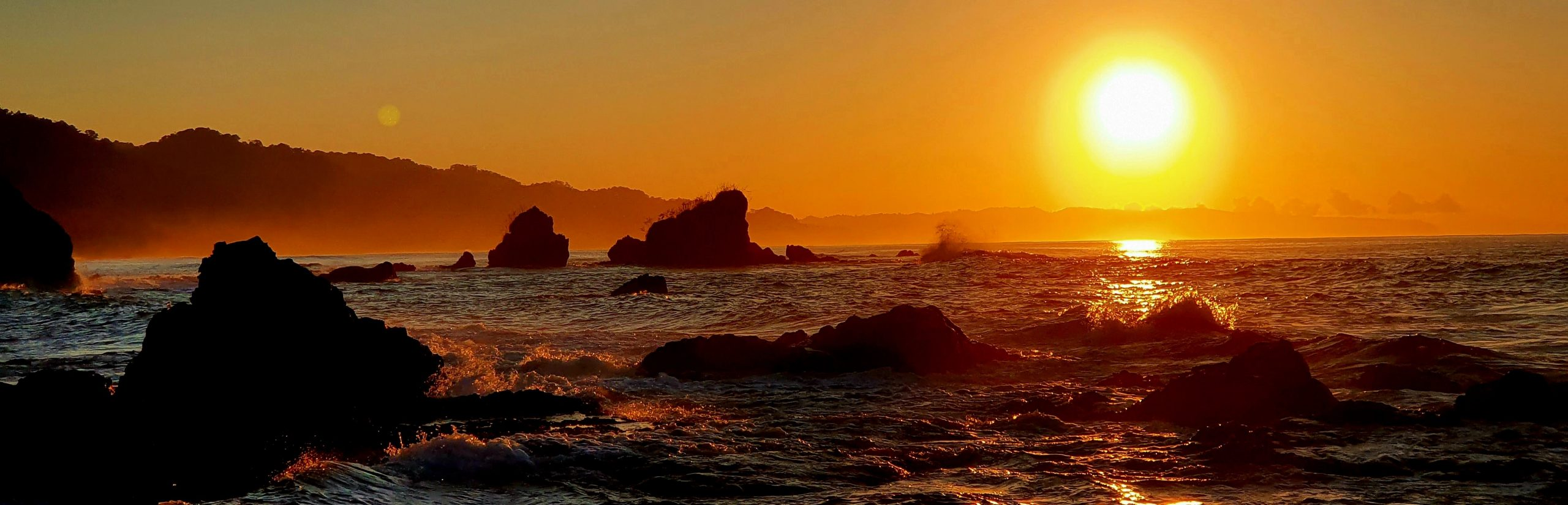 Sunset beach Osa Peninsula Costa Rica